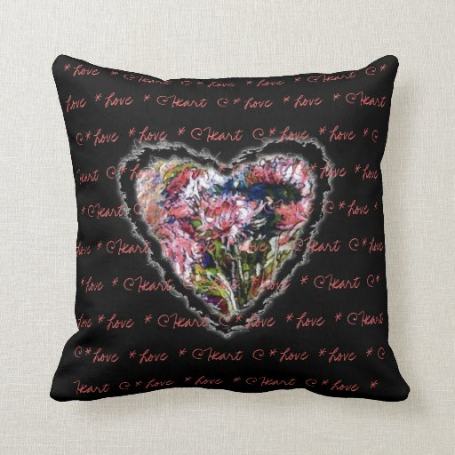 Romantic  Heart by Alexandra Cook Throw Pillows