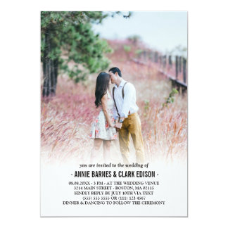 Romantic Minimalist Photo Wedding Card