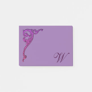 Romantic Pastel Steampunk Goth Personalised Post-it Notes