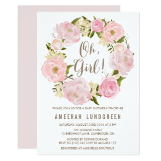 Browse Zazzle Girl Baby Shower invitations and customise with your own text, photos or designs.