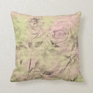 Romantic Pink Rose Cushion