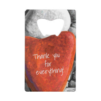 Romantic Red Heart Beach Stone Party Favor
