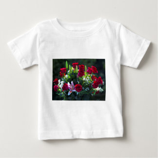 Romantic Red Rose Bouquet Baby T-Shirt