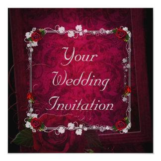 Romantic Red Wedding Invitation