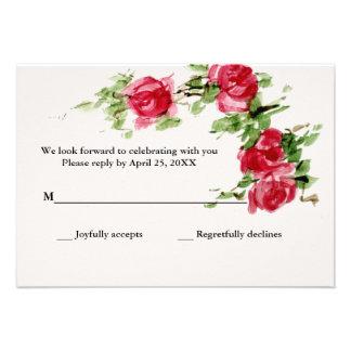 Romantic Rose Response Card