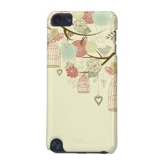 Romantic Roses, birds, birdcages, Floral Vintage iPod Touch 5G Cases