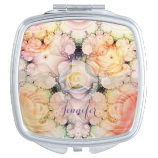 Romantic Roses, Swirls and custom Name Vanity Mirrors