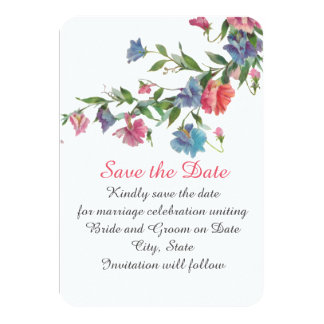 Romantic Spring Blossom Save the date Card