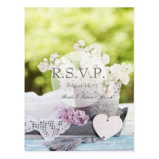 Romantic Spring Flower Floral Lilac RSVP Postcard
