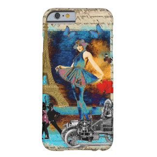 Romantic vintage Paris collage Barely There iPhone 6 Case