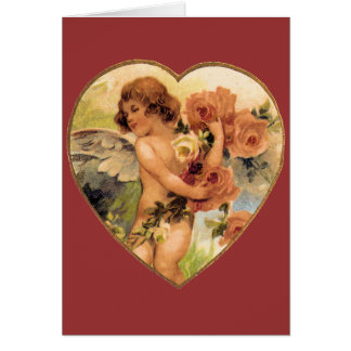 Romantic Vintage Valentines Card