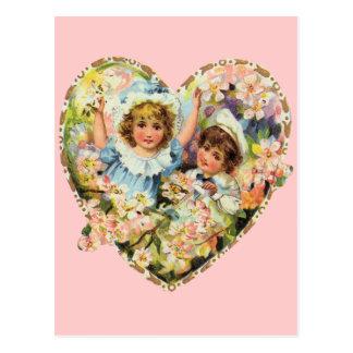 Romantic Vintage Valentines Postcard