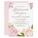 Romantic Watercolor Flowers Bridesmaids Luncheon 13 Cm X 18 Cm Invitation Card