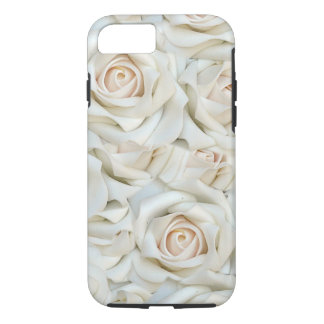 Romantic white Roses Pattern iPhone 7 Case