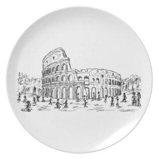 rome colosseum plate