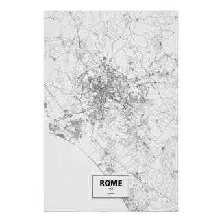 Rome Italy Map Poster