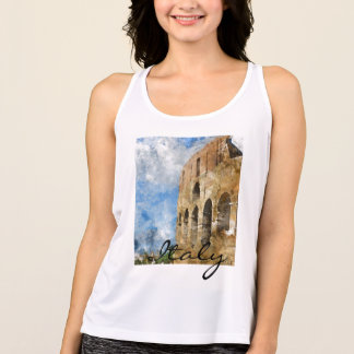 Rome Italy Colosseum Clothing Singlet