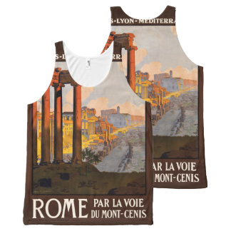Rome Italy Vintage Travel Poster tank top