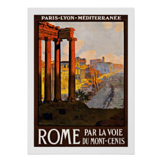 Rome Italy - Vintage Travel Posters