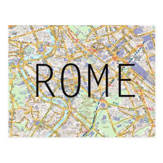 Rome map card