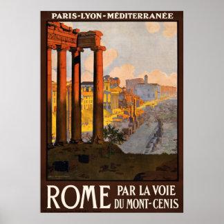 Rome par la voie du Mont-Cenis Poster