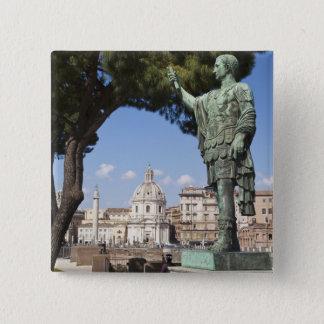 Rome, the Forum, statue of Cesar 15 Cm Square Badge