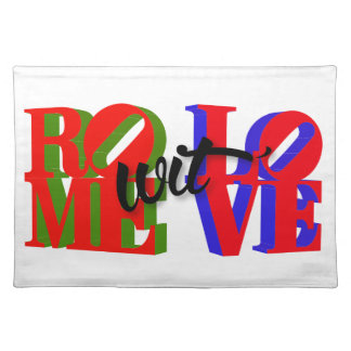 Rome wit' Love Accessories Placemat