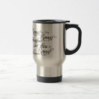 Romeo and Juliet Travel Mug, Shakespeare Travel Mug
