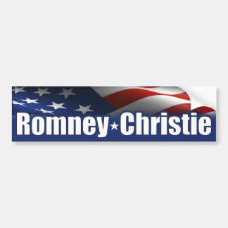 Romney Christie 2012 Car Bumper Sticker