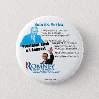 Romney Newt Prudent pin