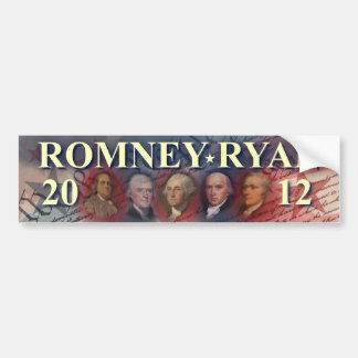 Romney - Ryan - Forefathers - 2012 Bumper Stickers
