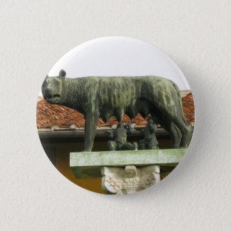 Romulus and Remus - Ancient Rome 6 Cm Round Badge