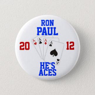 Ron Paul 2012 Aces 6 Cm Round Badge