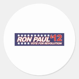 Ron Paul - 2012 election president politics Round Sticker