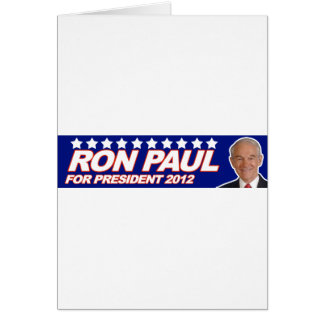 Ron Paul - 2012 election president vote Greeting Card