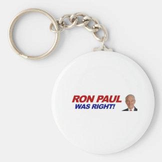 Ron Paul - 2012 election president vote Key Chain