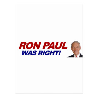 Ron Paul - 2012 election president vote Post Card