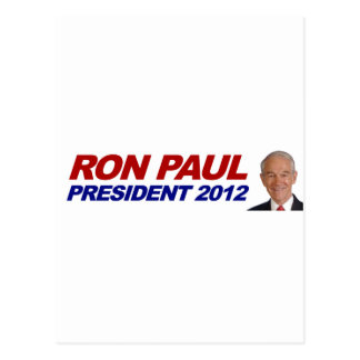 Ron Paul - 2012 election president vote Postcard