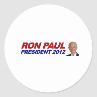 Ron Paul - 2012 election president vote Round Sticker