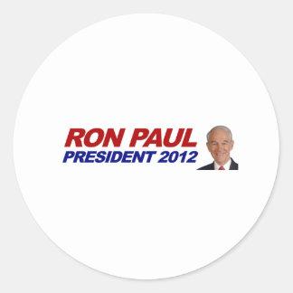 Ron Paul - 2012 election president vote Classic Round Sticker