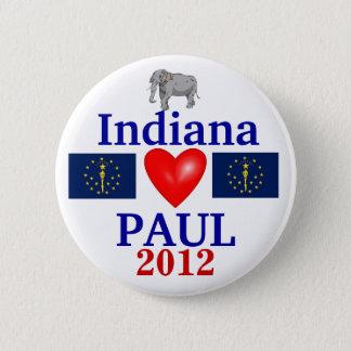 Ron Paul 2012 Indiana 6 Cm Round Badge