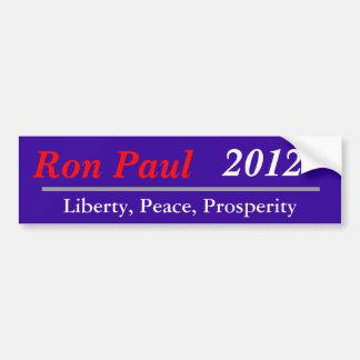 Ron Paul, 2012, Liberty, Peace, Prosperity Bumper Sticker