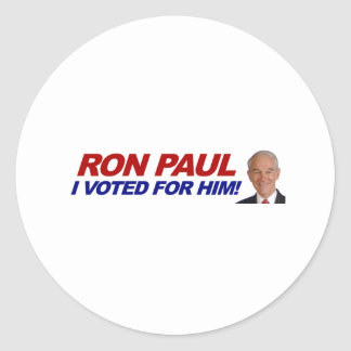 Ron Paul I voted for him - election president Round Sticker