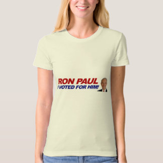 Ron Paul I voted for him - election president Shirts