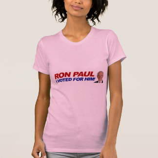 Ron Paul I voted for him - election president T Shirt