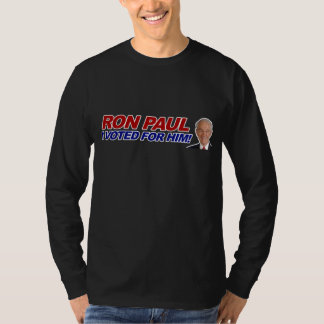 Ron Paul I voted for him - election president T-Shirt