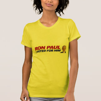 Ron Paul I voted for him - election president T-shirts