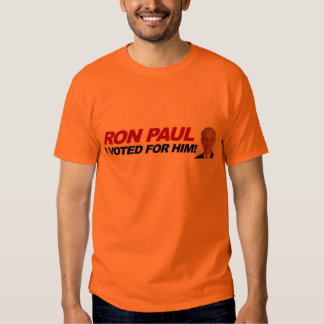 Ron Paul I voted for him - election president Tee Shirts