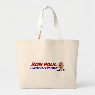 Ron Paul I voted for him - election president Bag