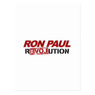 Ron Paul revolution - election president vote Postcard